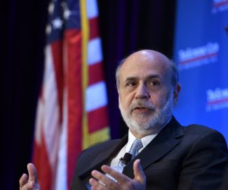 Ben Bernanke speaks with the Economic Club. Photo Credit: The Economic Club of Washington, D.C./Joyce N. Boghosian