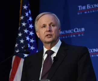 Bob Dudley speaks to the Economic Club. Photo Credit: The Economic Club of Washington, D.C./Joyce N. Boghosian