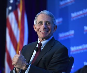 Dr. Anthony Fauci speaks with the Economic Club. Photo Credit: The Economic Club of Washington, D.C./Joyce N. Boghosian
